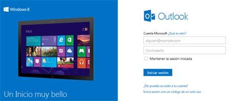 outlook y windows 8